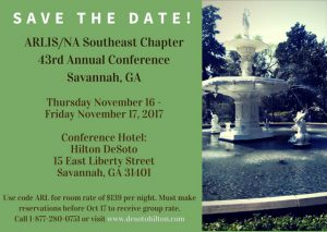 Save the Date! Savannah in Nov 2017