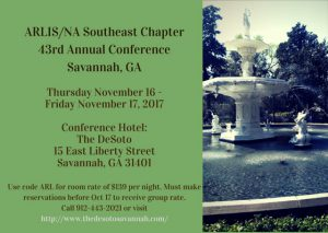 Register for ARLISSE Savannah