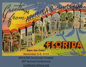 Save the Date! Meeting Nov 6-8, 2019 in Tallahassee, Florida