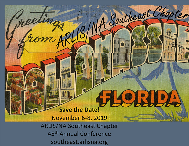 Save the Date! Chapter Meeting Nov 6-8, 2019 in Tallahassee, Florida